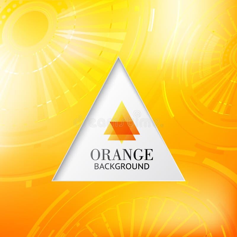Πορτοκαλί αφηρημένο υπόβαθρο tiangle. απεικόνιση αποθεμάτων
