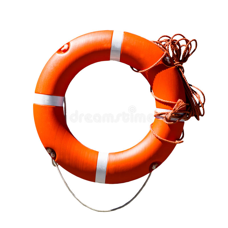 Πορτοκαλί δαχτυλίδι αποταμίευσης ζωής στοκ εικόνα με δικαίωμα ελεύθερης χρήσης