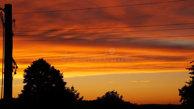 πορτοκαλί ηλιοβασίλεμα στοκ εικόνες