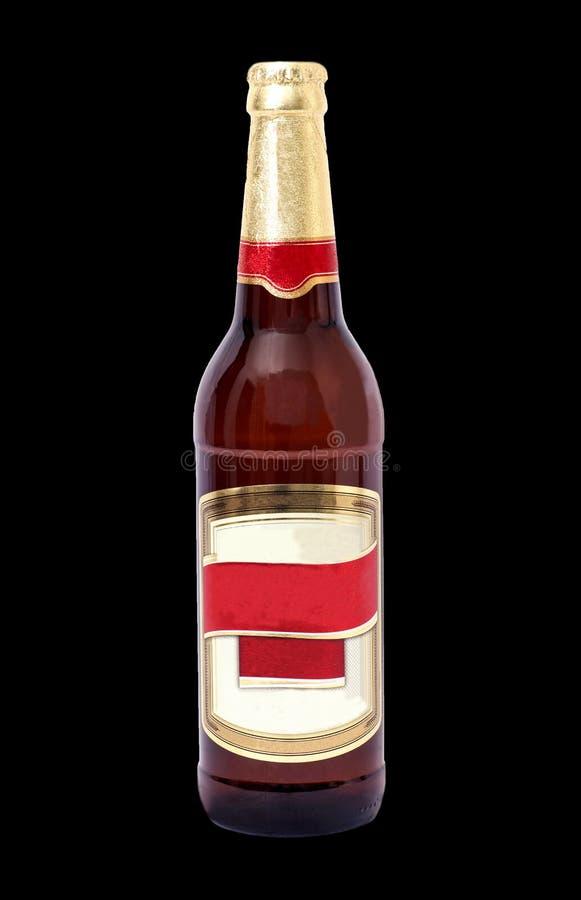 πορτοκαλί διάνυσμα απεικόνισης μπουκαλιών μπύρας ανασκόπησης στοκ εικόνα