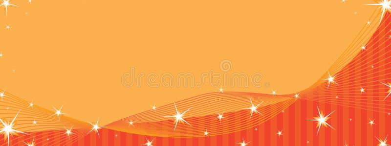 Πορτοκαλί διάστημα εμβλημάτων αστεριών απεικόνιση αποθεμάτων