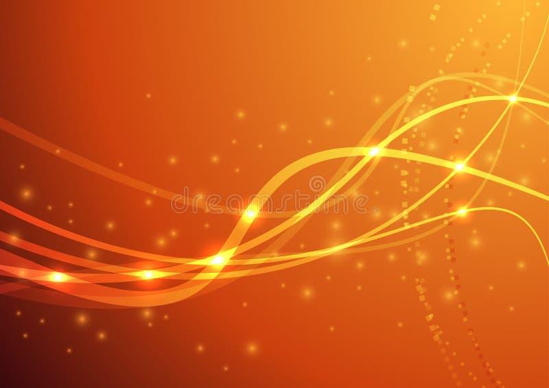 Πορτοκαλί κύμα δύναμης ελεύθερη απεικόνιση δικαιώματος
