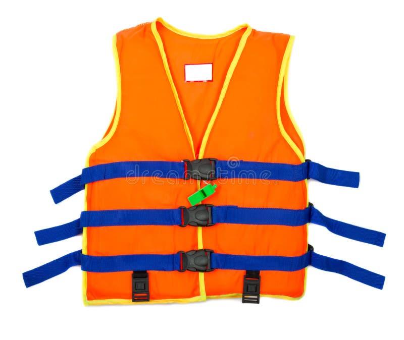 Πορτοκαλί σακάκι ζωής με το συριγμό που απομονώνεται στο άσπρο υπόβαθρο στοκ φωτογραφία με δικαίωμα ελεύθερης χρήσης