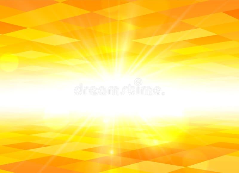 Πορτοκαλί υπόβαθρο θερινής άποψης ουρανού ελεύθερη απεικόνιση δικαιώματος