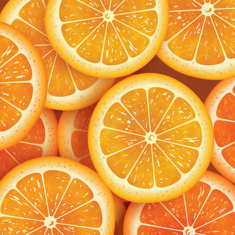 Πορτοκαλί υπόβαθρο φετών για το καλοκαίρι ελεύθερη απεικόνιση δικαιώματος