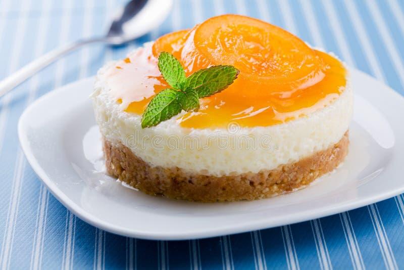 Πορτοκαλί Cheesecake στοκ εικόνα