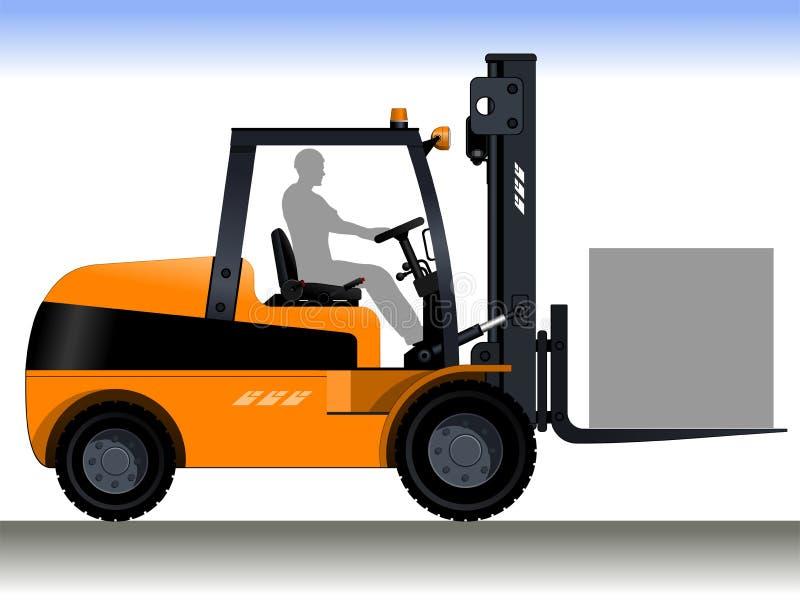 Forklift οδηγός διανυσματική απεικόνιση