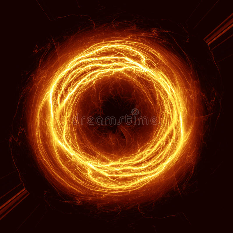 Πορτοκαλιά βολίδα διανυσματική απεικόνιση