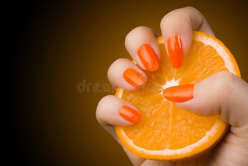 Πορτοκαλιά καρφιά στοκ φωτογραφία με δικαίωμα ελεύθερης χρήσης