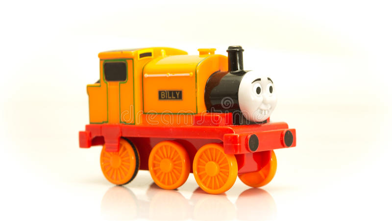 Πορτοκαλιά κινούμενα σχέδια εκδρομικών κατσαρολών τραίνων του Thomas και των φίλων του στοκ εικόνα