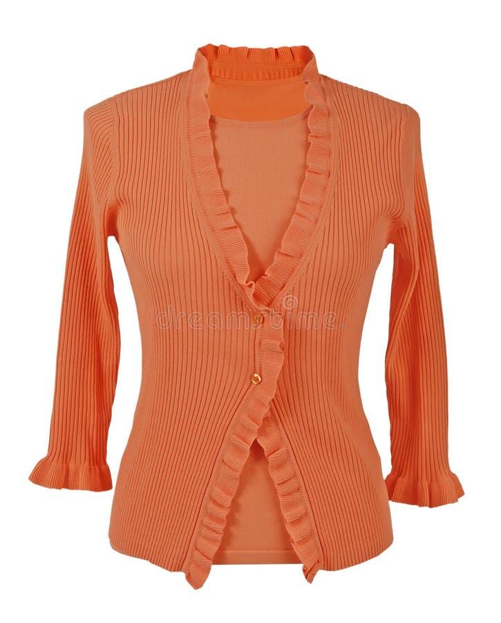 Πορτοκαλιά μπλούζα στοκ εικόνα με δικαίωμα ελεύθερης χρήσης