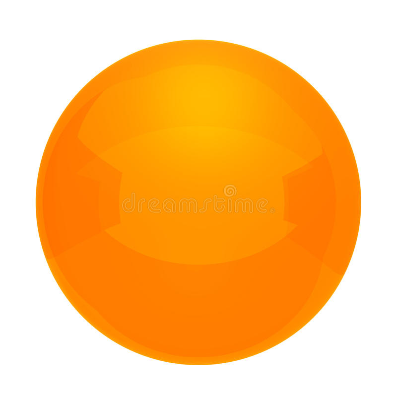 Πορτοκαλιά σφαίρα διανυσματική απεικόνιση