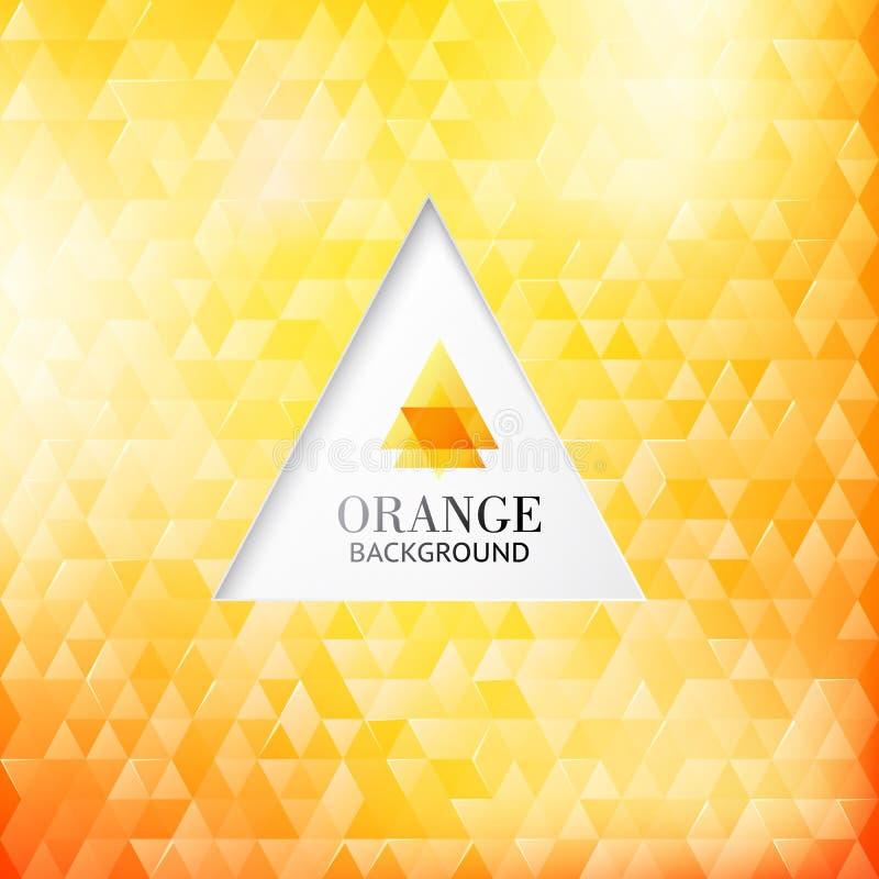 Πορτοκαλιά σύγχρονη αφαίρεση. απεικόνιση αποθεμάτων