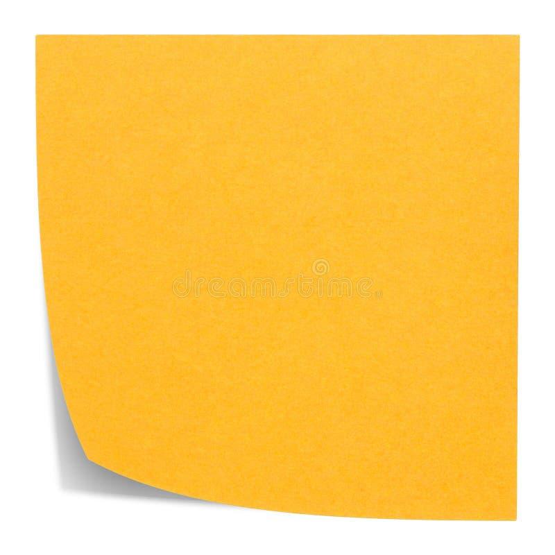 Πορτοκαλιά τετραγωνική κολλώδης σημείωση στοκ φωτογραφίες
