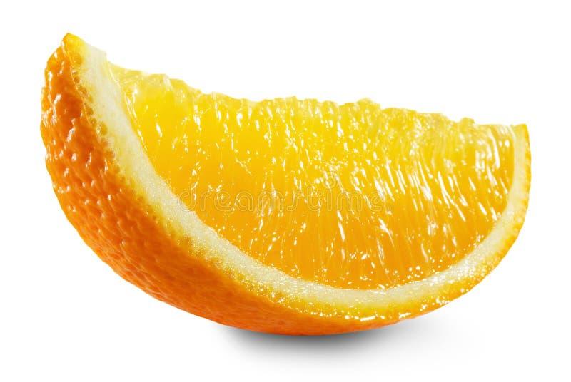 Πορτοκαλιά φέτα που απομονώνεται στο άσπρο υπόβαθρο στοκ εικόνες