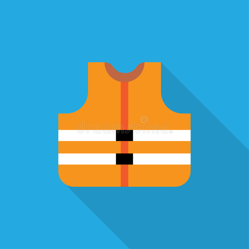 Πορτοκαλιά φανέλλα ασφάλειας ελεύθερη απεικόνιση δικαιώματος
