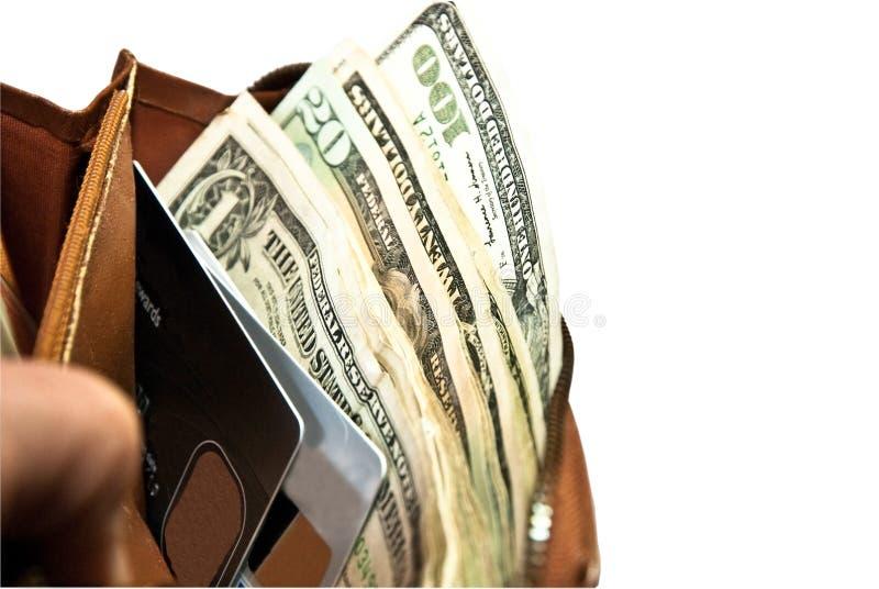 πορτοφόλι πιστωτικών χρημάτων καρτών στοκ εικόνα