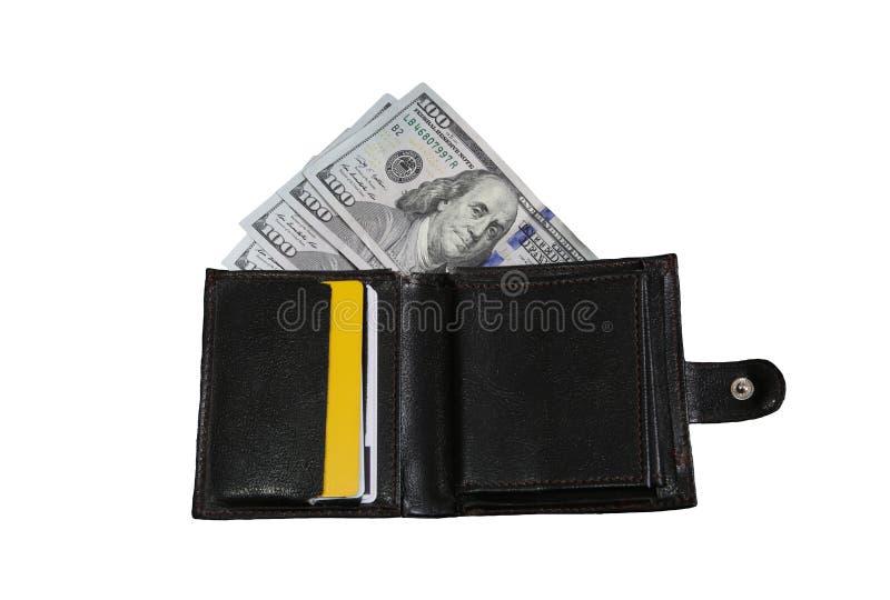 Πορτοφόλι πορτοφολιών με τα αμερικανικά δολάρια στοκ φωτογραφία με δικαίωμα ελεύθερης χρήσης