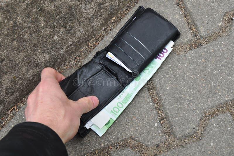 Πορτοφόλι που βρίσκεται στοκ εικόνες