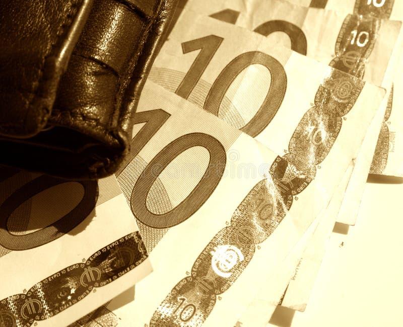 πορτοφόλι σκίτσων ευρώ Στοκ φωτογραφία με δικαίωμα ελεύθερης χρήσης