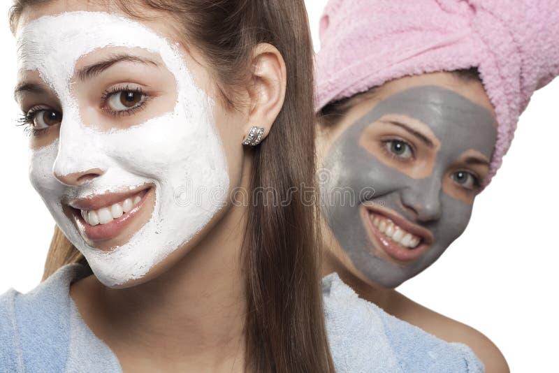 Πορτρέτα με τις μάσκες στοκ φωτογραφίες