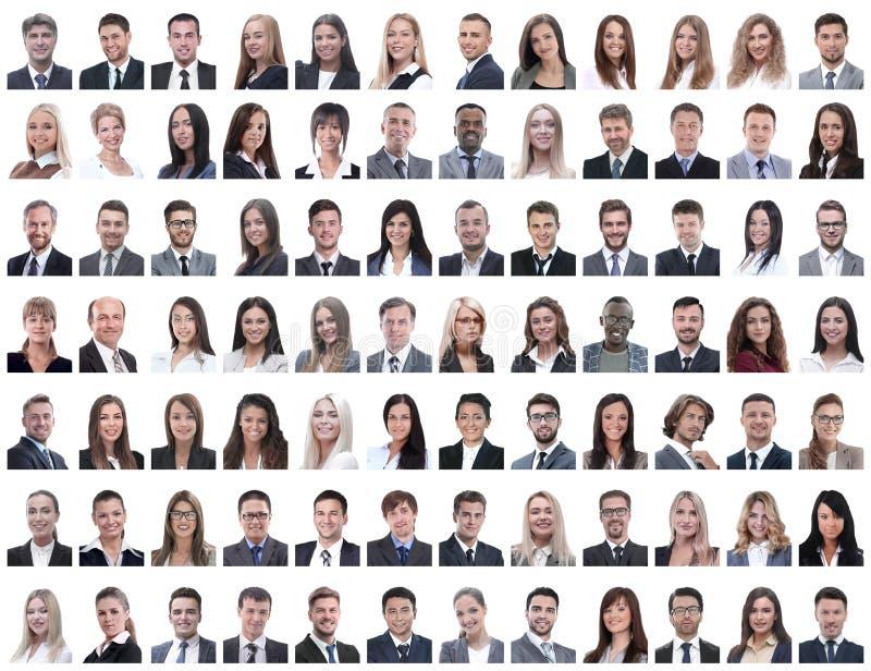Πορτρέτα των επιτυχών υπαλλήλων που απομονώνονται σε ένα λευκό στοκ φωτογραφία