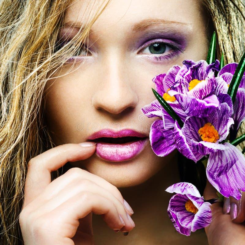Πορτρέτο άνοιξη ομορφιάς στοκ εικόνες