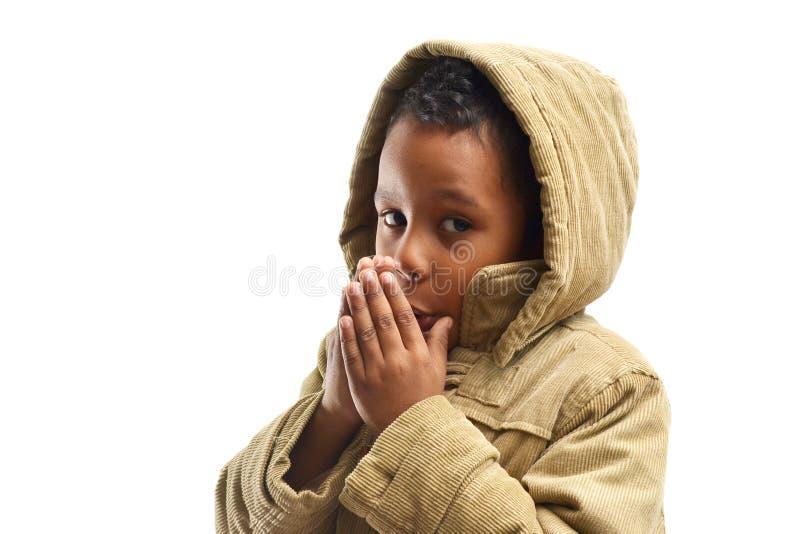 Πορτρέτο αγοριών που φορά την κουκούλα στοκ εικόνες