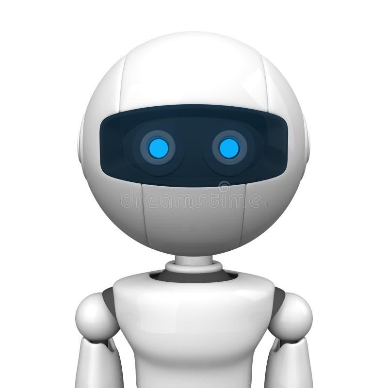 πορτρέτο ατόμων ρομποτικό διανυσματική απεικόνιση