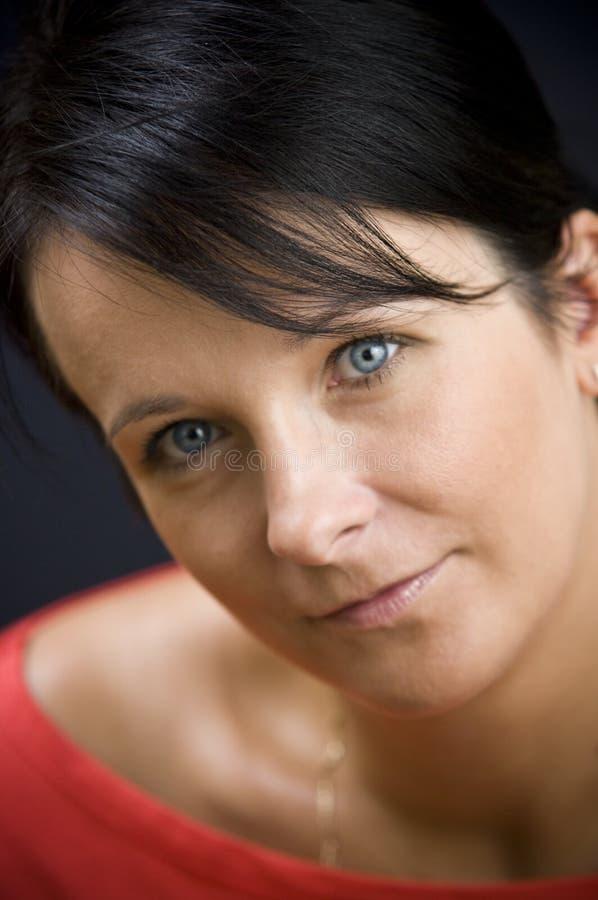 Πορτρέτο γυναικών Brunette στοκ εικόνα με δικαίωμα ελεύθερης χρήσης