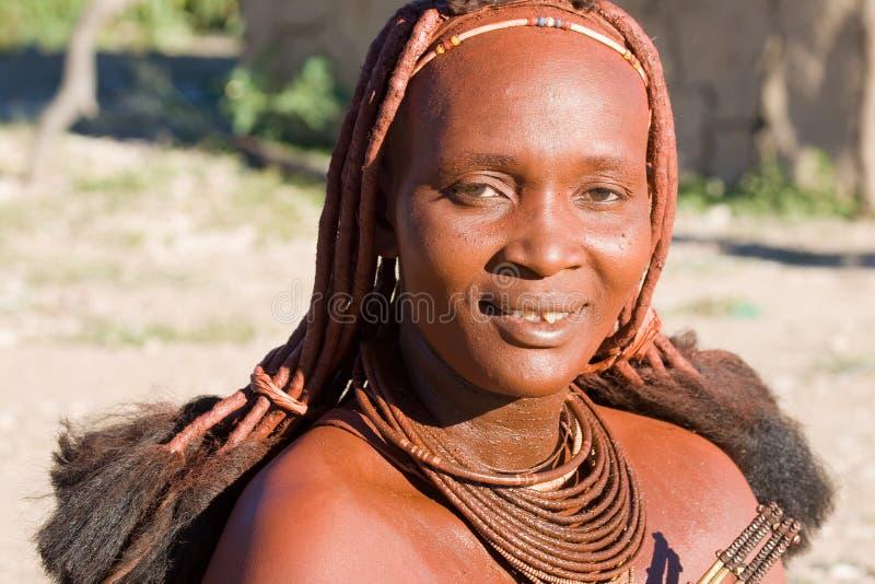 Πορτρέτο γυναικών Himba στοκ εικόνα με δικαίωμα ελεύθερης χρήσης