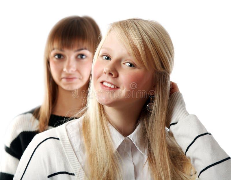 Download πορτρέτο δύο κοριτσιών στοκ εικόνα. εικόνα από γαλήνιος - 17057547