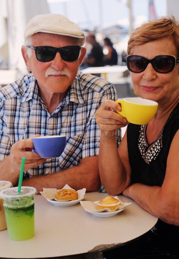 Πορτρέτο δύο 70 χρονών ανώτερων ανθρώπων στοκ εικόνα με δικαίωμα ελεύθερης χρήσης
