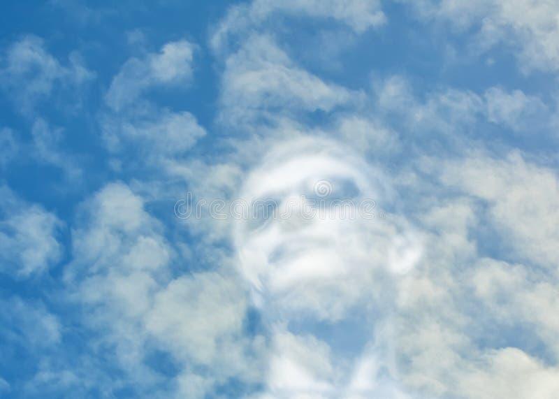 Πορτρέτο ενός ανθρώπου από τα σύννεφα στοκ εικόνες