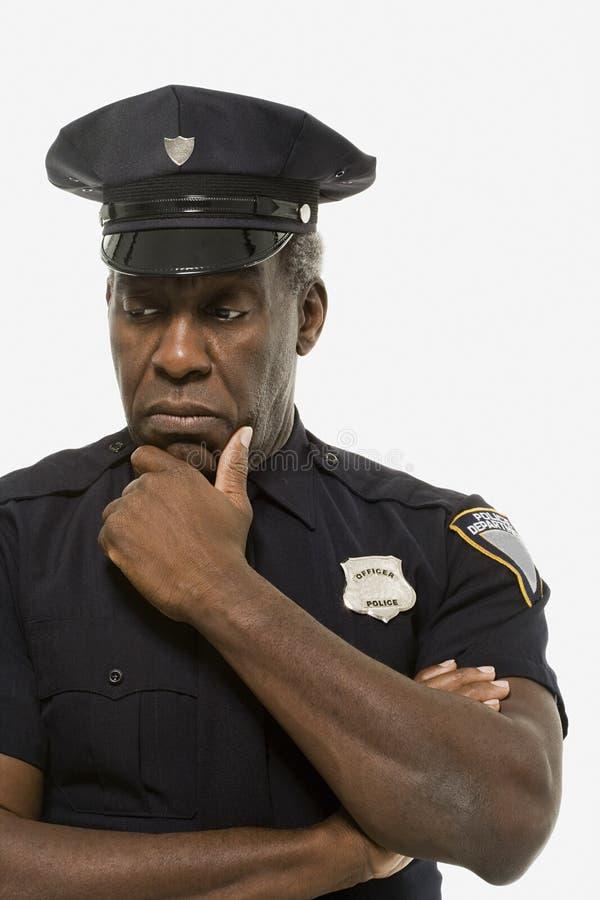 Πορτρέτο ενός αστυνομικού στοκ φωτογραφία