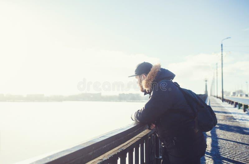Πορτρέτο ενός ατόμου με μια γενειάδα στοκ φωτογραφία με δικαίωμα ελεύθερης χρήσης