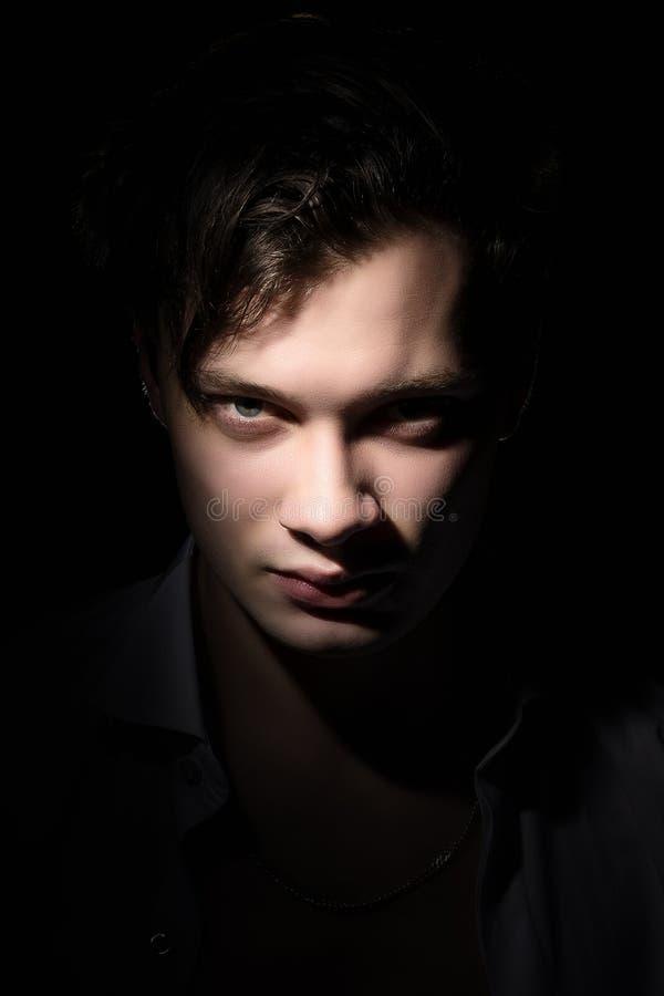 Πορτρέτο ενός ατόμου μυστικού στοκ εικόνες με δικαίωμα ελεύθερης χρήσης