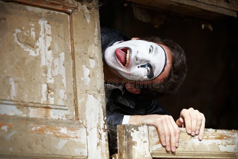 Πορτρέτο ενός ατόμου;; mime. στοκ φωτογραφία