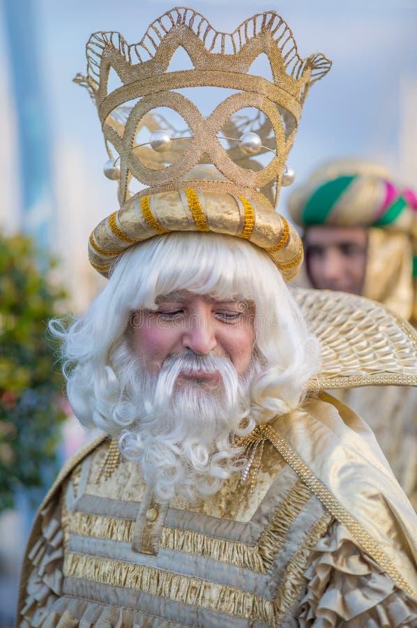 Πορτρέτο ενός βασιλιά, γιορτή των τριών βασιλιάδων στοκ φωτογραφίες