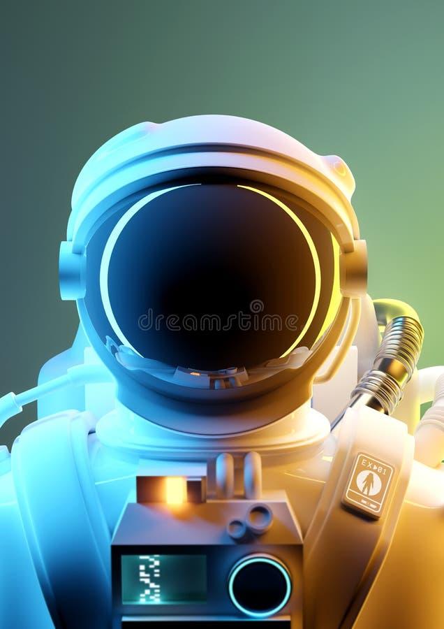 Πορτρέτο ενός διαστημικού ατόμου αστροναυτών στοκ εικόνες