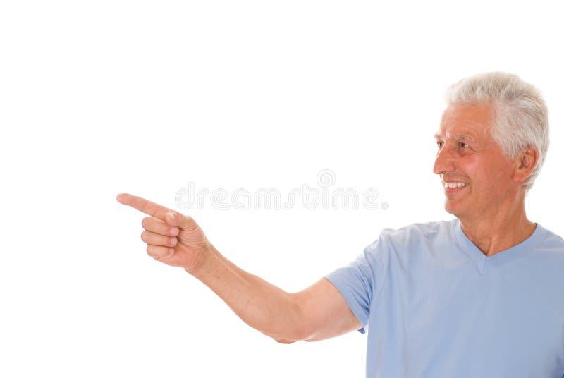 Πορτρέτο ενός ευτυχούς ανώτερου ατόμου στοκ εικόνες