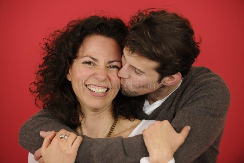 Πορτρέτο ενός ευτυχούς ζεύγους στοκ φωτογραφίες