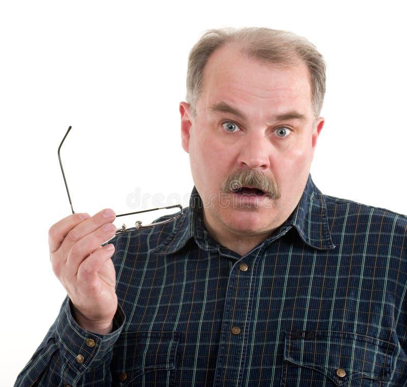 Πορτρέτο ενός ηληκιωμένου με τα γυαλιά στοκ φωτογραφία με δικαίωμα ελεύθερης χρήσης