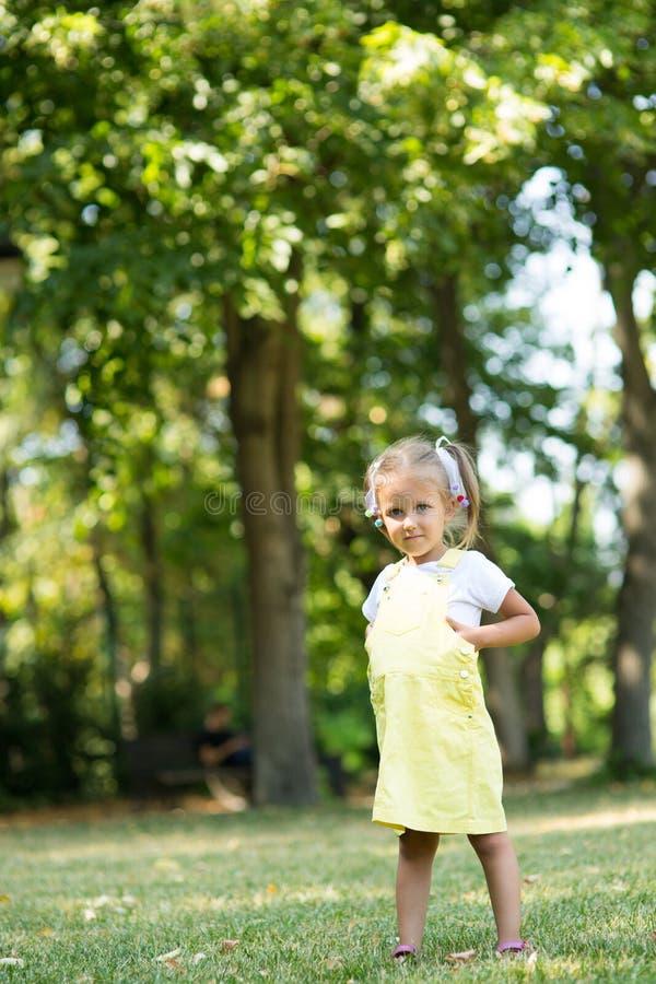 Πορτρέτο ενός κοριτσιού τετράχρονων παιδιών στοκ εικόνα με δικαίωμα ελεύθερης χρήσης