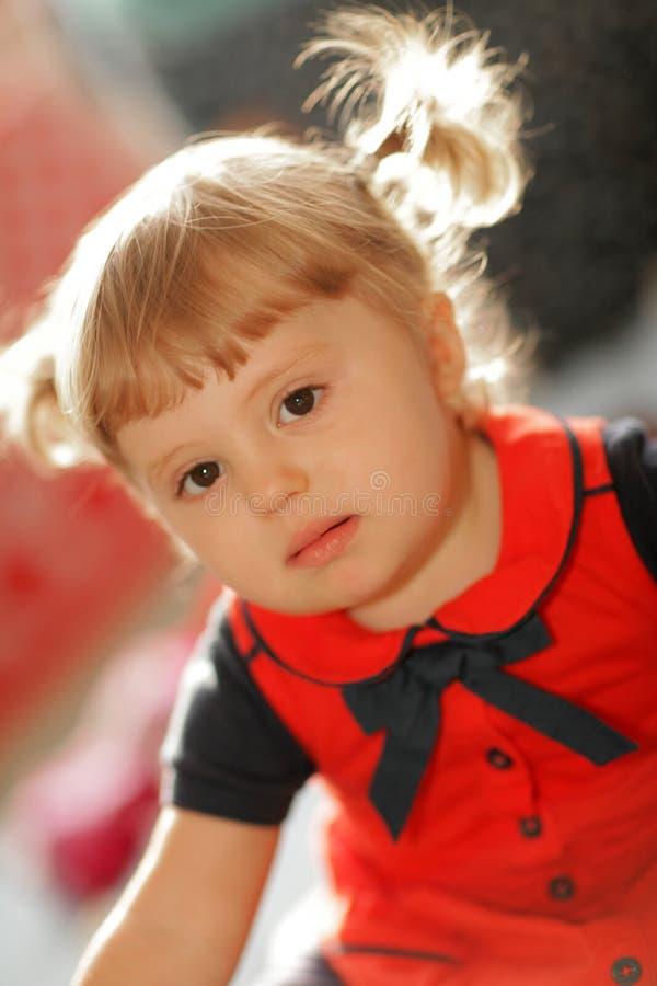 Πορτρέτο ενός μικρού κοριτσάκι στοκ εικόνες