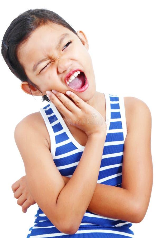 Κορίτσι με τον πονόδοντο στοκ εικόνες