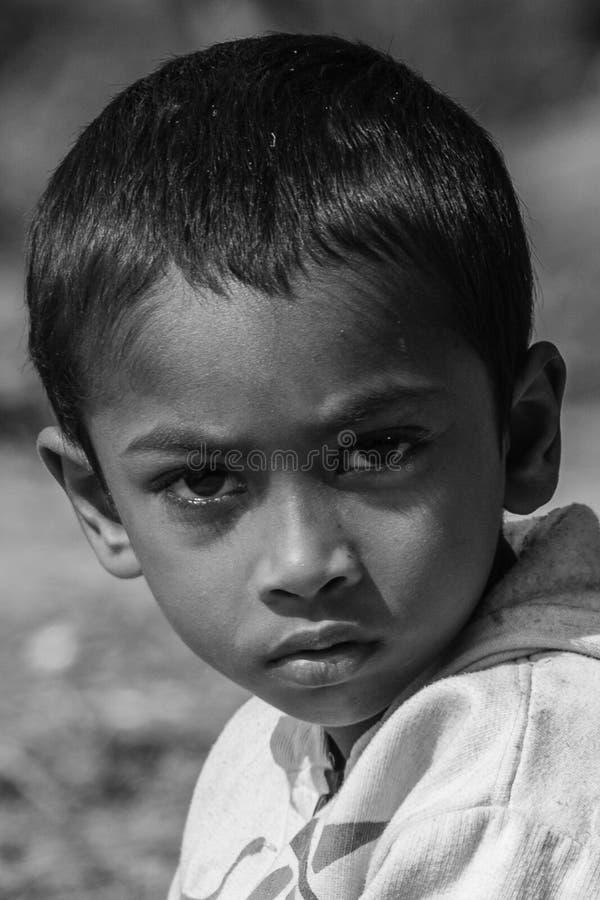 Πορτρέτο ενός του Μπαγκλαντές παιδιού στοκ φωτογραφίες