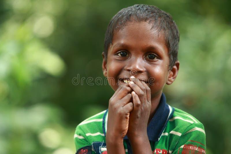 Πορτρέτο ενός φυλετικού αγοριού σε Wayanad, Κεράλα στοκ φωτογραφία με δικαίωμα ελεύθερης χρήσης