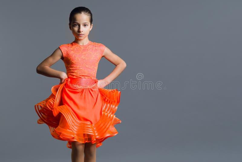 Πορτρέτο ενός χορευτή παιδιών 9-10 κοριτσιών χρονών στοκ φωτογραφία με δικαίωμα ελεύθερης χρήσης
