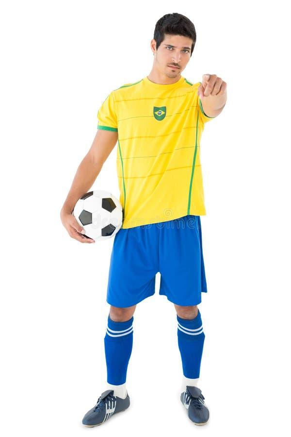 Πορτρέτο ενός όμορφου βραζιλιάνου ποδοσφαιριστή στοκ φωτογραφία με δικαίωμα ελεύθερης χρήσης